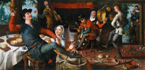 Feestje met de partners op z'n tijd... waarom niet. Hier laat Pieter Aertsen zien hoe het kan: de Eierdans, 1551....